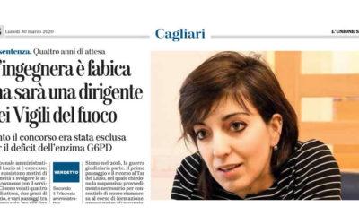"""Articolo de """"L'Unione Sarda"""" del 30 marzo 2020"""